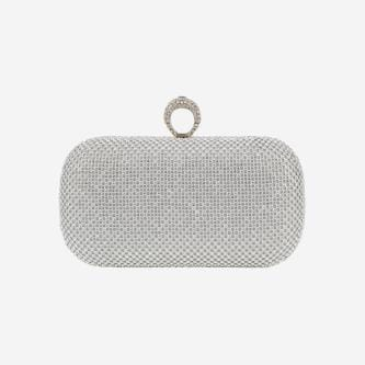 WJS srebrna elegancka torebka wieczorowa  WJS76059-19