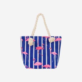WJS mała bawełniana torebka damska z motywem flamingów WJS76067-15