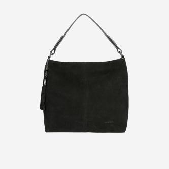 Pojemna czarna torebka damska na co dzień 6890-81