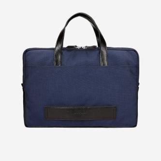 Praktyczna granatowa torba na laptopa 15,6