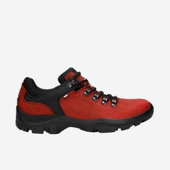 Czerwone buty trekkingowe męskie crazy horse 9377-05