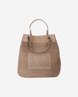 Dámska kožená kabelka s priestorom na všetko podstatné 8901-73