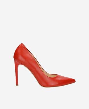Červené dámské lodičky 8357-55