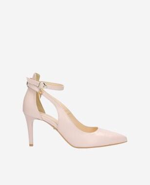 Elegantné dámske lodičky v neutrálnej béžovej farbe 9361-54