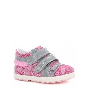 Mini first steps BARTEK W-11733-5/V14, dla dziewcząt, różowo-szary W-11733-5/V14