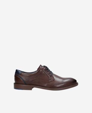 Kvalitní kožené pánské boty v tmavě hnědé barvě 9071-52