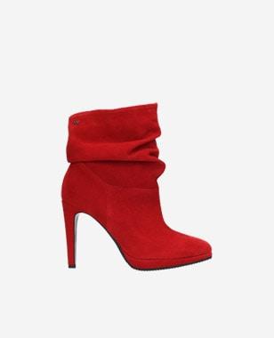 Červené dámské boty 9532-65