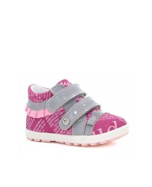 Mini first steps BARTEK W-11733-5/V21, dla dziewcząt, różowo-szary W-11733-5/V21
