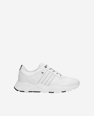 Stylové a pohodlné botasky dámské v bílé barvě  46015-59