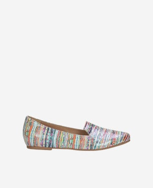 Poltopánky dámske ako kožená vychádzková obuv multicolor 45003-65
