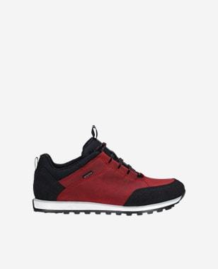 Červená dámska športová obuv s prvkami čiernej 46031-75