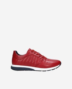Czerwone sportowe półbuty męskie 10020-55