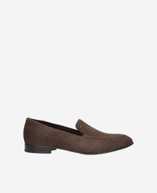 Brązowe loafersy męskie 10004-63