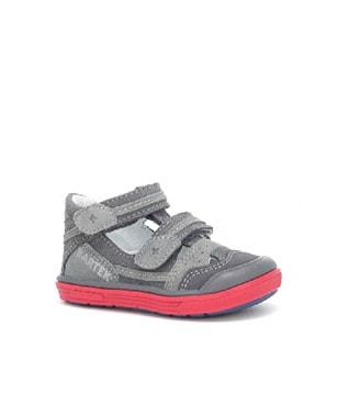 Sandały zabudowane BARTEK T-81885-7/GIF, dla chłopców, szary T-81885-7/GIF