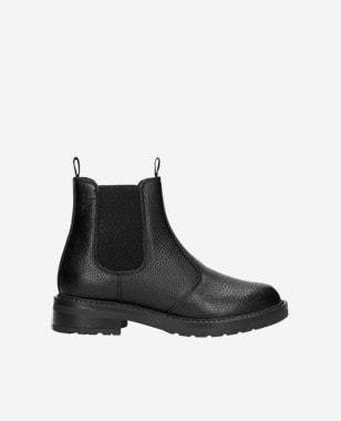 Členkové topánky z lícovej kože a podšívkou z vlny 55093-51