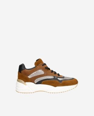 Hnědé botasky dámské z kombinace kvalitních kůží 46067-83