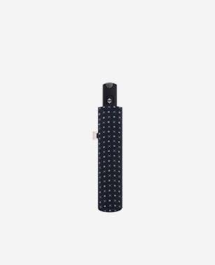 Czarny składany parasol męski ze wzorem DOPPLER K050002-11