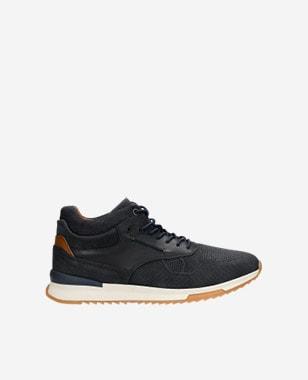 Granatowe trzewiki męskie typu sneakers 24024-86