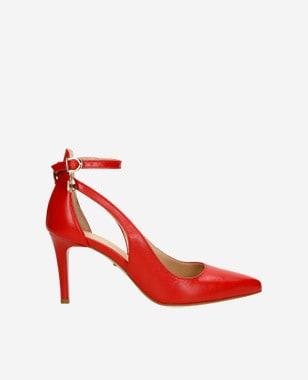 Výrazné sexy dámské lodičky v červeném provedení 9361-55