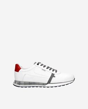 Ultra moderní sněhobílé botasky pánské z kůže 10021-79