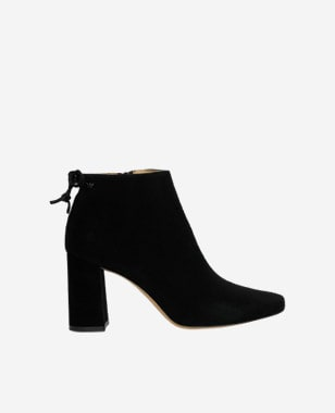 Elegantné dámske nízke čižmy čiernej farby 55088-61