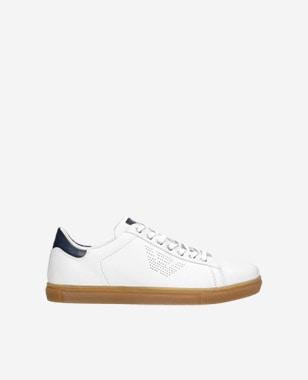 Kožené botasky pánské v neutrálních barvách 10076-59