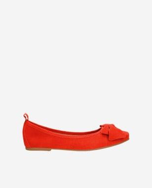 Červené dámské polobotky z kvalitní velurové kůže 44007-65