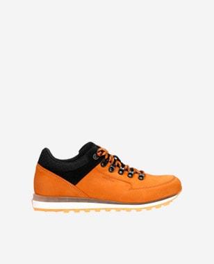 Pomerančovo-černé botasky pánské vhodné na celoroční nošení 10078-75