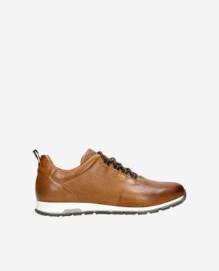 Kožené pánské sneakers v jasně hnědé barvě 10039-53