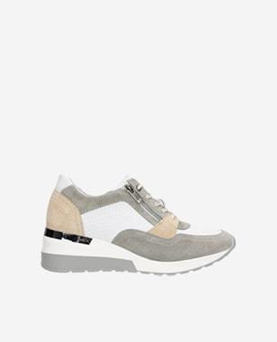 Barevné kožené dámské sneakers s vysokou podrážkou 46091-79