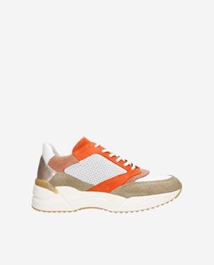 Kožené dámské sneakers ve výrazných barvách 46099-74