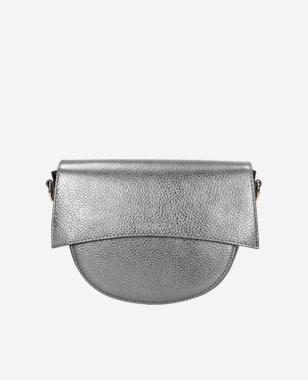 Strieborná malá dámska kabelka z kvalitnej kože 80122-59