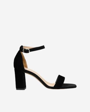 Elegantné dámske sandále z velúrovej kože 76070-61