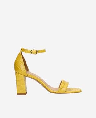 Žlté trendy dámske sandále na leto a slnečné počasie 76070-58