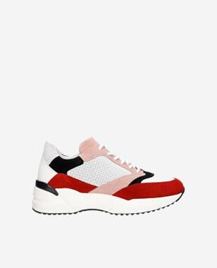 Barevné dámské sneakers z hladké a velurové kůže 4609975