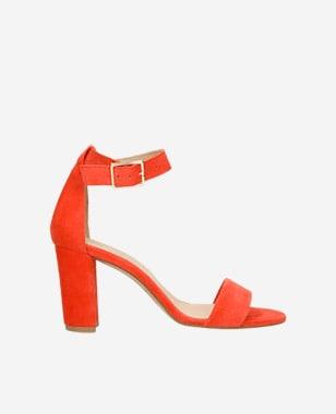 Dámske sandále elegantné na leto v červenej farbe 76028-65