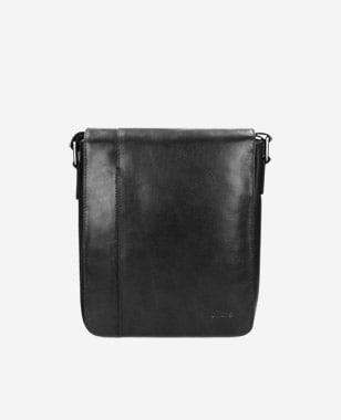 Čierna pánska kožená taška ukryje každú drobnosť 80042-51