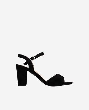 WJS czarne sandały damskie idealne na lato WJS74012-61