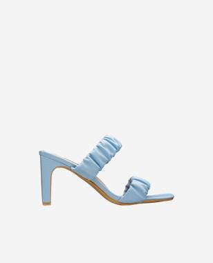 WJS niebieskie klapki damskie z dwoma paskami WJS71021-56
