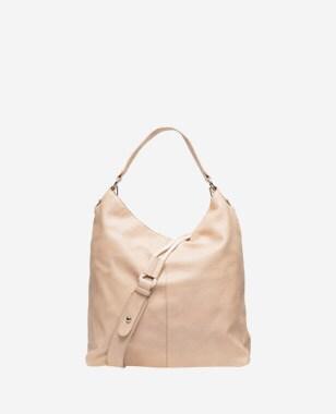 WJS beżowa torebka damska z ozdobnym paskiem WJS76004-54