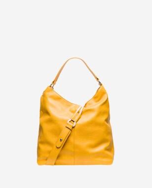 WJS duża żółta torebka damska na krótkim pasku WJS76004-58