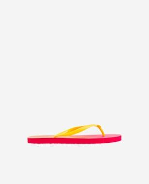 WJS energiczne japonki ombre z żółtymi paskami WJS71036-15