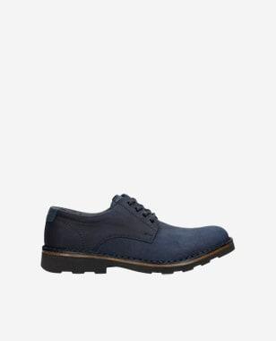 Elegantní pánské kožené boty v granátové barvě 5084-05