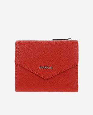 Czerwony portfel z trójkątną klapką 91017-55