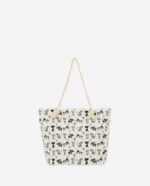 WJS biała bawełniana torebka damska z printem w koty WJS76066-11