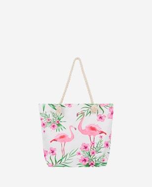 WJS bawełniana torebka damska z flamingami WJS76066-15