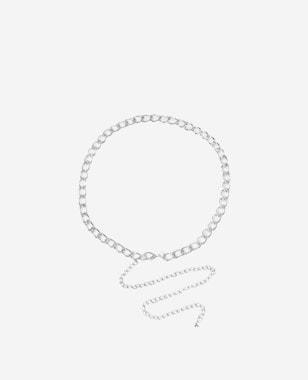 WJS srebrny pleciony metalowy pasek damski WJS91018-19