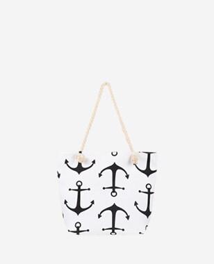 WJS biała torebka damska z motywem w kotwice WJS76066-19