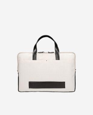 Beżowa torba na laptopa 15,6