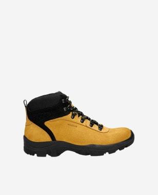 Żółte trekkingi męskie z kontrastowymi elementami 24029-78